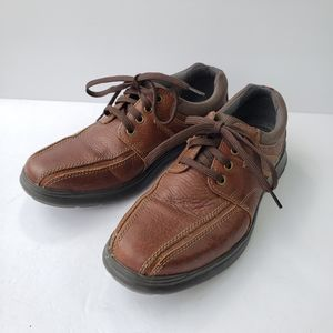 Clarks Cotrell Ortholite leather walking shoes